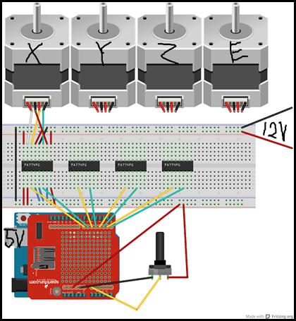 3Dprinter2_ブレッドボード