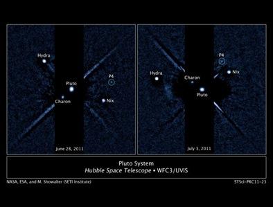 a nova lus P4 de Plutão