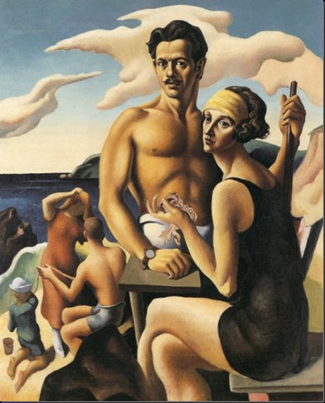03. Benton, Thomas Hart - Self Portrait With Rita, 1922