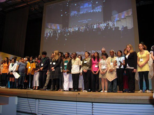 Young people at GNRC conference, Hiroshima, May 2008