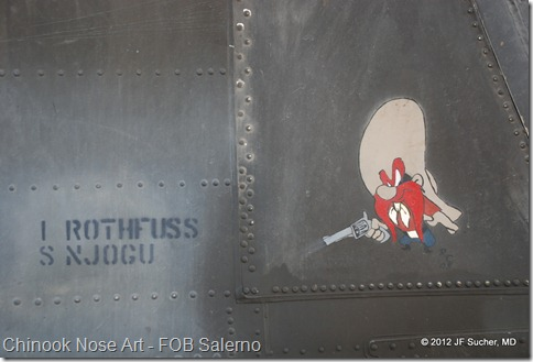 Chinook Nose Art - FOB Salerno