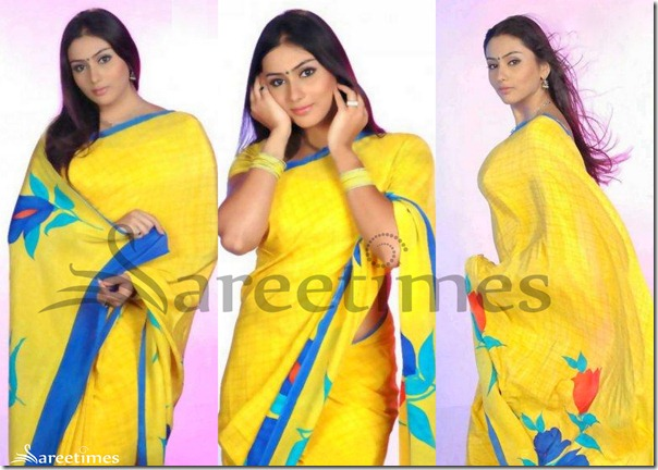 Namitha_Yellow_Saree