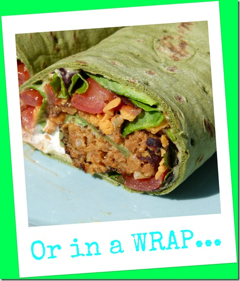 black bean burger wrap