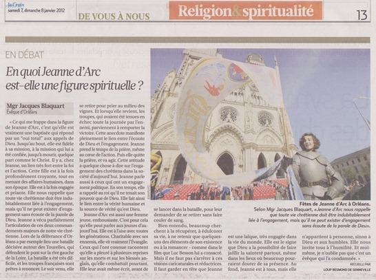 Jeanne d'Arc l'Église catolique