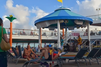 Cozumel sailaway with a reggae band on the pool deck