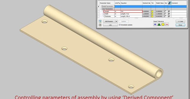 3D Solid Modelling Videos: Controlling parameters of