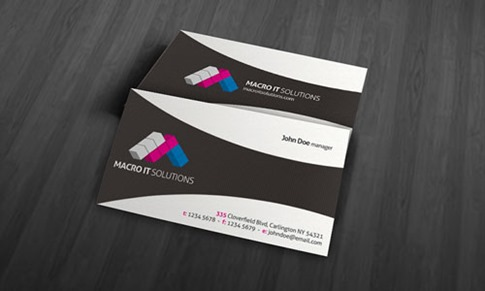 Unique Corporate Business Card Template