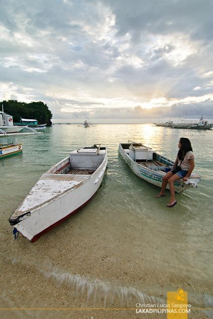 Crossing Over Malapascua's Bounty Beach