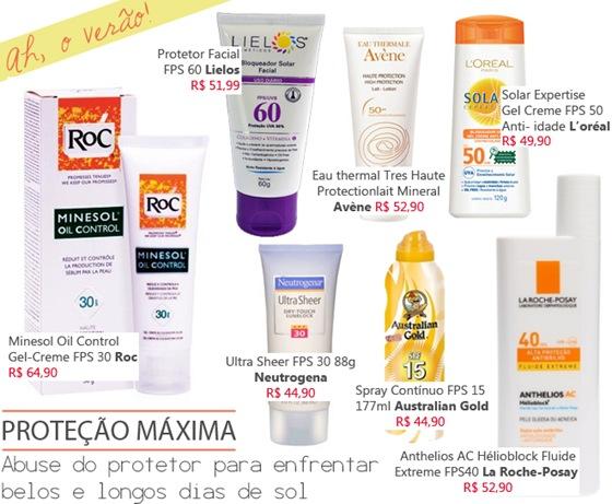 Protetor Solar para rosto e corpo – Invista na saúde da sua pele.