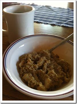 pear almond quinoa