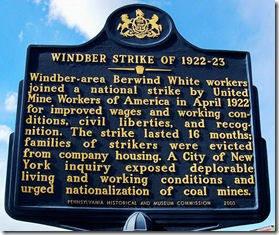 Windber Strike of 1922-23 marker in Windber, PA, Somerset County (Click any photo to enlarge)