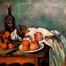Paul Cezanne (1895-1900): Bodegón con Cebollas. Museo de Orsay. París. Postimpresionismo