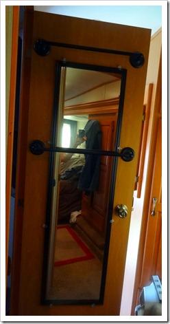 mirror on door