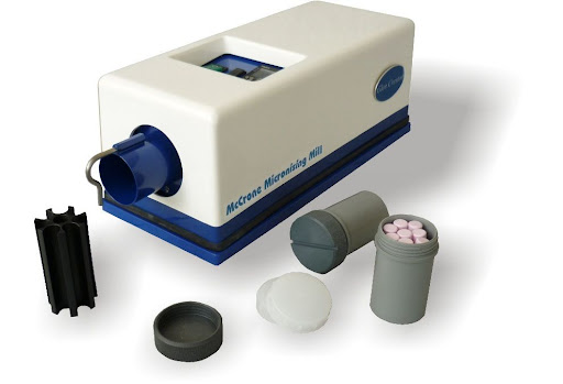 Sample preparation by McCrone Micronizing mill before XRD/Rietveld test