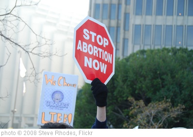 'stop abortion  now' photo (c) 2008, Steve Rhodes - license: http://creativecommons.org/licenses/by-nd/2.0/