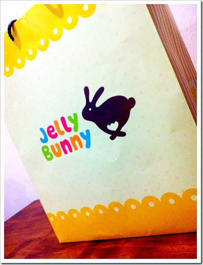 jelly bunny shopping bag