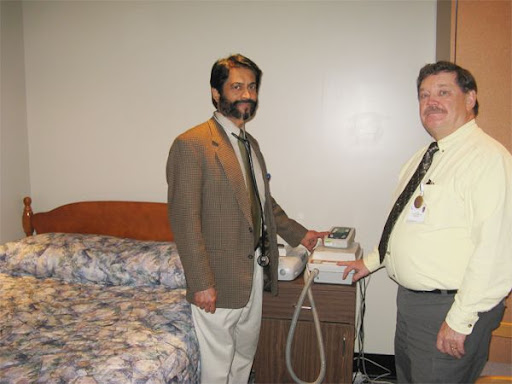 Dr. Francis Augustine and Respiratory Therapist Dave Ciesla