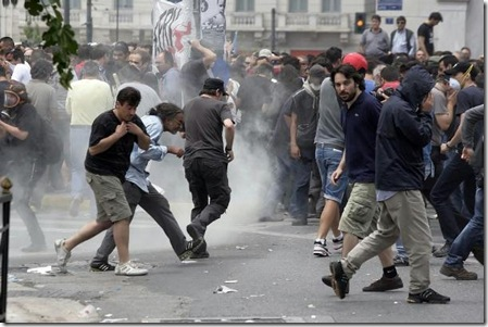 eurozone crisis  greece riots