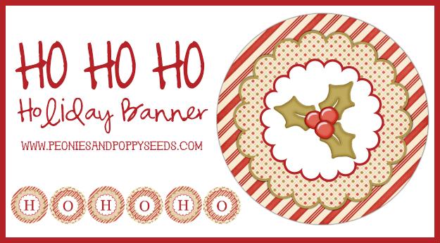 ho ho ho holiday banner copy