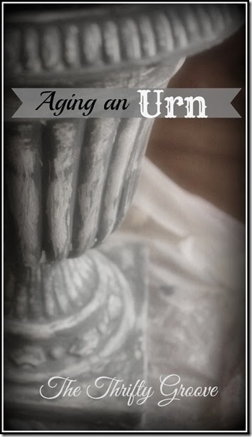 How to age a plastic urn http://thethriftygroove.blogspot.com/