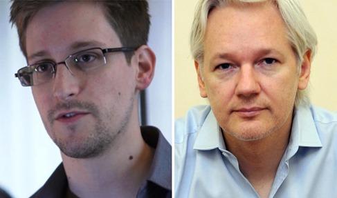 Assange y Snowden