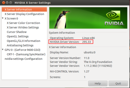 nVidia 295.33 su Ubuntu