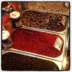 peppercorns at la Boqueria
