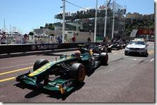 Trulli con la Lotus nelle qualifiche del gran premio di Monaco
