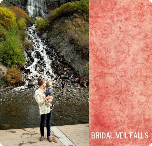 bridal veil falls collage