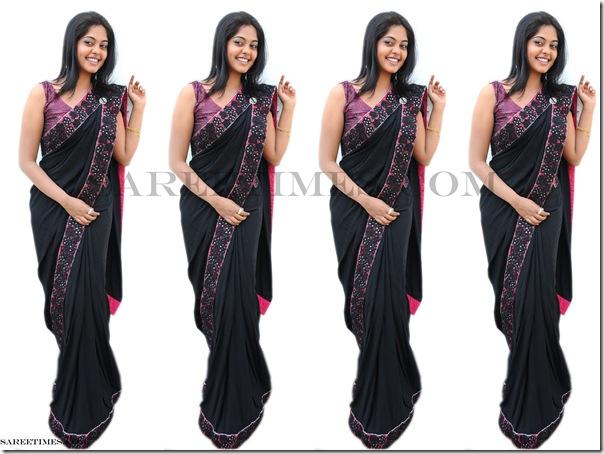 Bindu_adhavi_Black_Saree