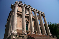 One of the temples at the Roman forum