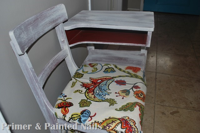 Gossip Chair After - Primer & Painted Nails (3)