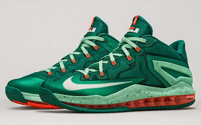 nike lebron 11 low gr biscayne 2 03 Nike LeBron 11 Low Biscayne   Different Shades of Green