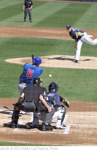 'Narveson pitches to Cubs outfielder Reed Johnson' photo (c) 2012, Mike LaChance - license: http://creativecommons.org/licenses/by/2.0/