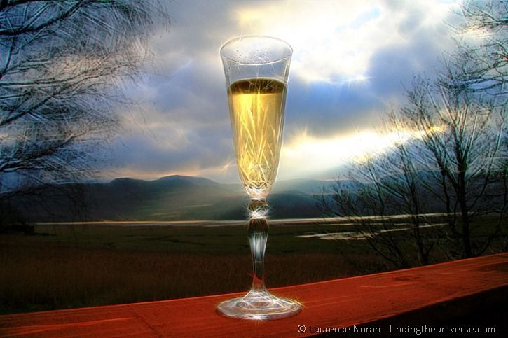 Surreal champagne glass 3