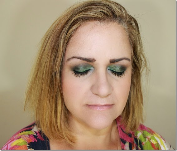 Fall Ggreen Blue FOTD Face 2