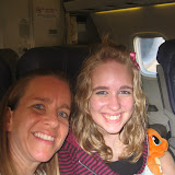 Me and Meg on the plane.