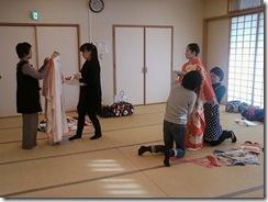 成人式振袖着付け練習 (2)