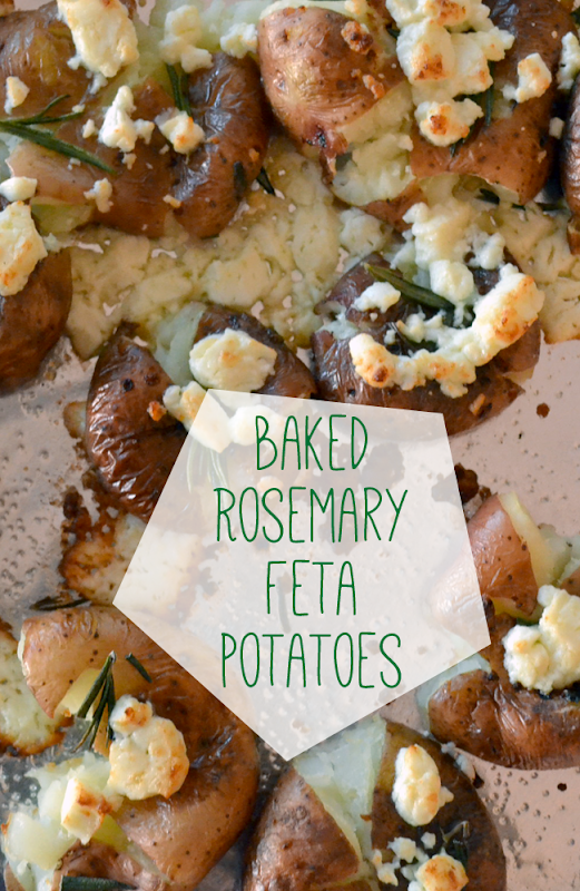 Baked Rosemary Feta Potatoes