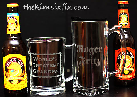 Fathers day personalized beer mug