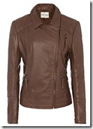 Reiss Brown Biker Jacket