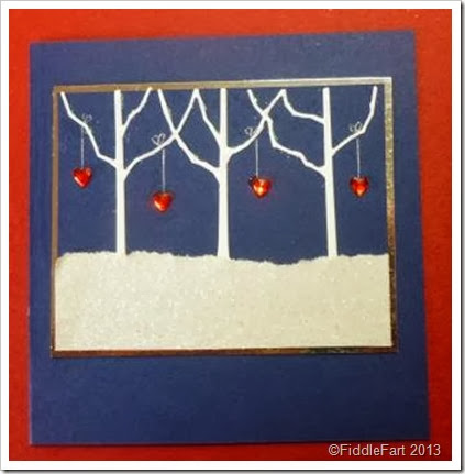 Row of Trees Memory Box Die Christmas Card