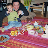 "Angela Wren, Berlin - ""Our indoor picnic was a huge success. Jeremy, our son, loved preparing it and it was great fun to do something different during these cold days"""