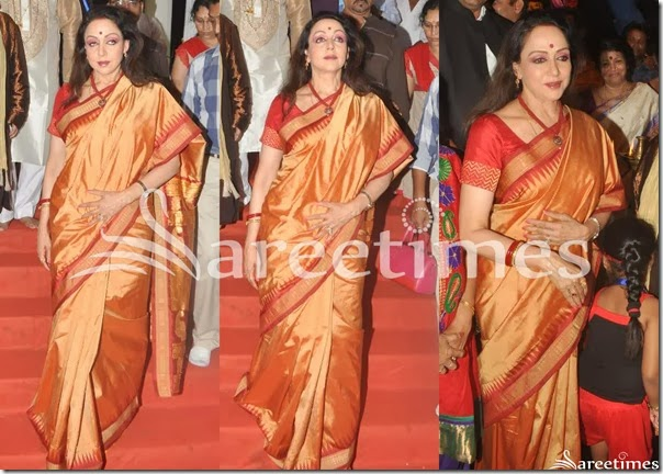 Hema_Malini_Gold_Bridal_Silk_Saree