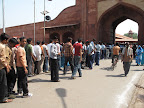 Line for the Taj