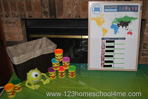 monsters inc decorations and activity