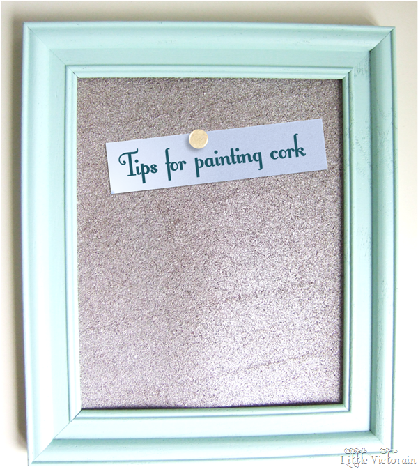 Tips for spray painting a cork board