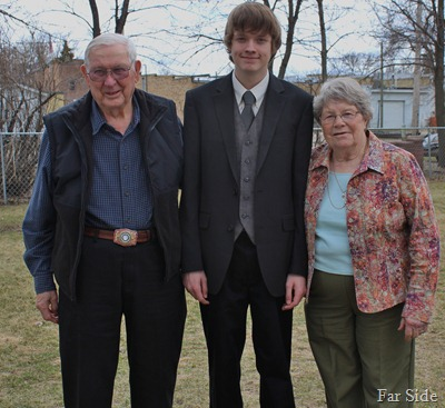 Noahs Confirmation Day Great Grandparents