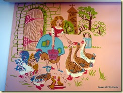 Cinderella feeds the geese