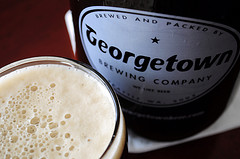 image of Bob's Brown Ale in the growler, courtesy of Flickr page